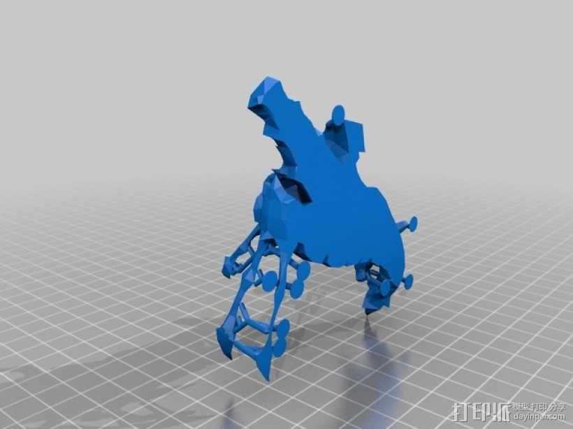 巨口克格莫 3D模型  图2