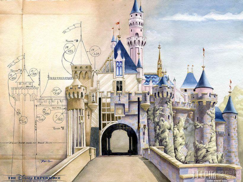 魔法城堡 3D模型  图1