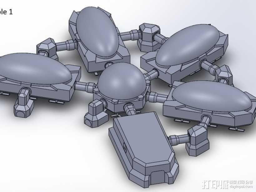 模组化火星基地 3D模型  图1