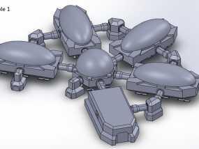 模组化火星基地 3D模型