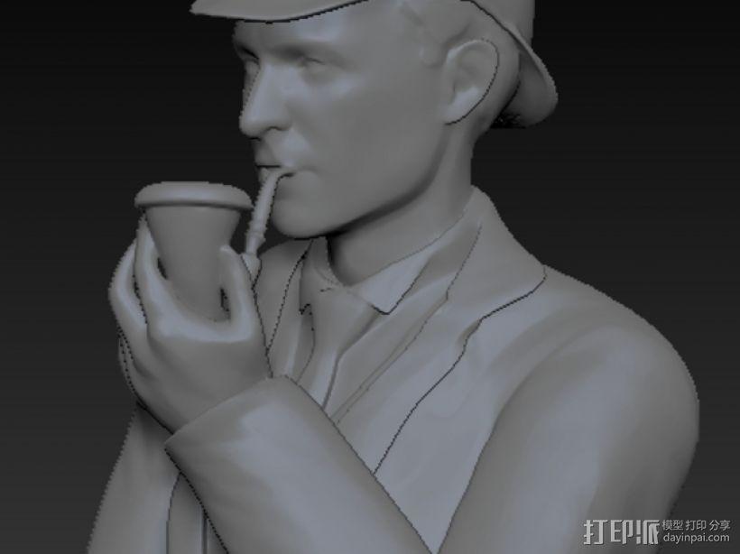 夏洛克福尔摩斯半身像 3D模型  图1