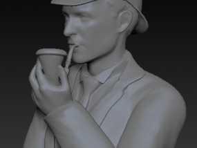 夏洛克福尔摩斯半身像 3D模型
