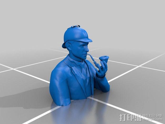 夏洛克福尔摩斯半身像 3D模型  图2