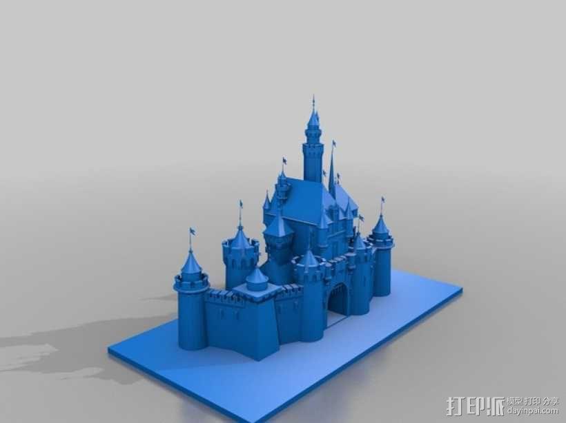 迪斯尼乐园 睡美人城堡 3D模型  图3