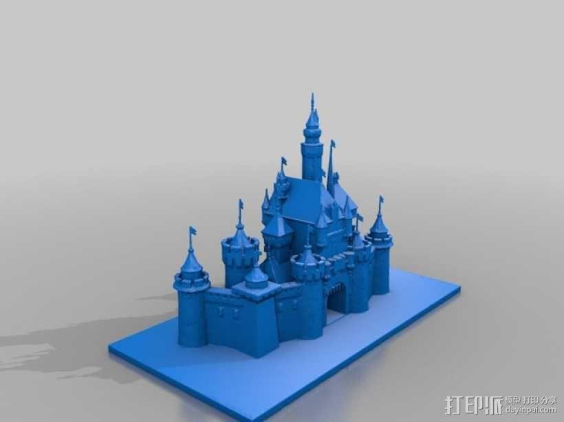 迪斯尼乐园 睡美人城堡 3D模型  图2
