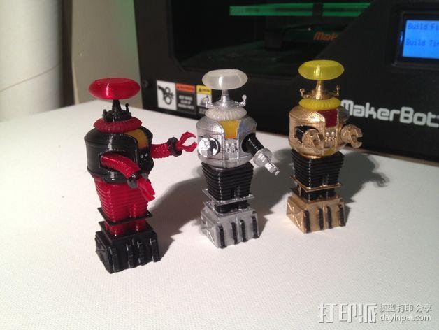 迷失太空B9机器人 3D模型  图1