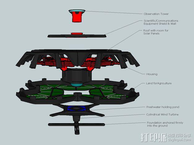 火星城市建筑  3D模型  图4