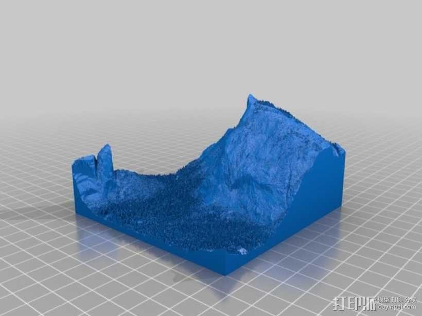 约瑟米蒂国家公园地形模型 3D模型  图5