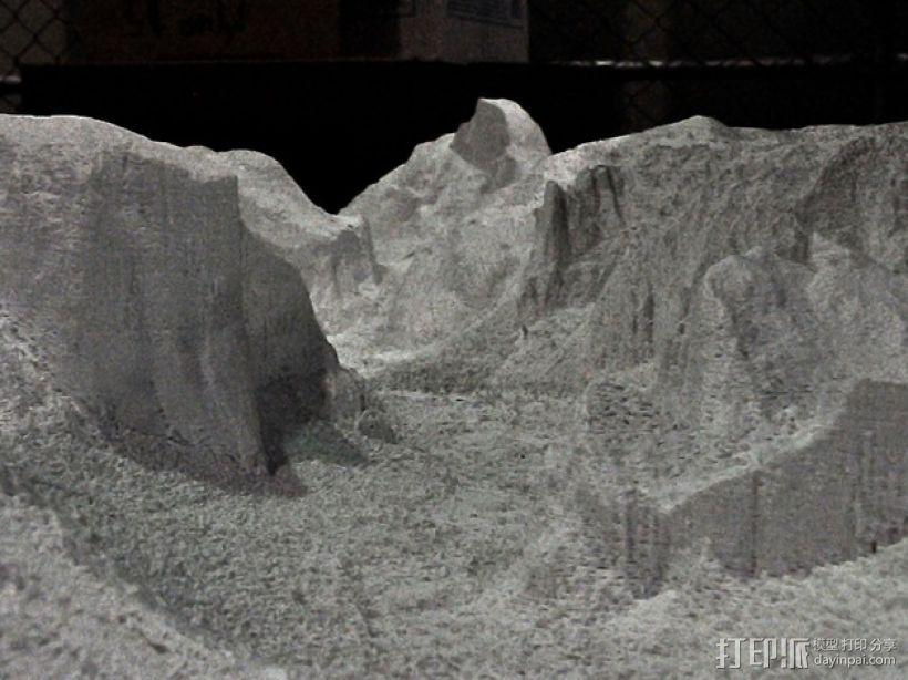 约瑟米蒂国家公园地形模型 3D模型  图3