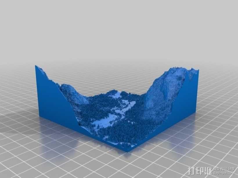约瑟米蒂国家公园地形模型 3D模型  图6