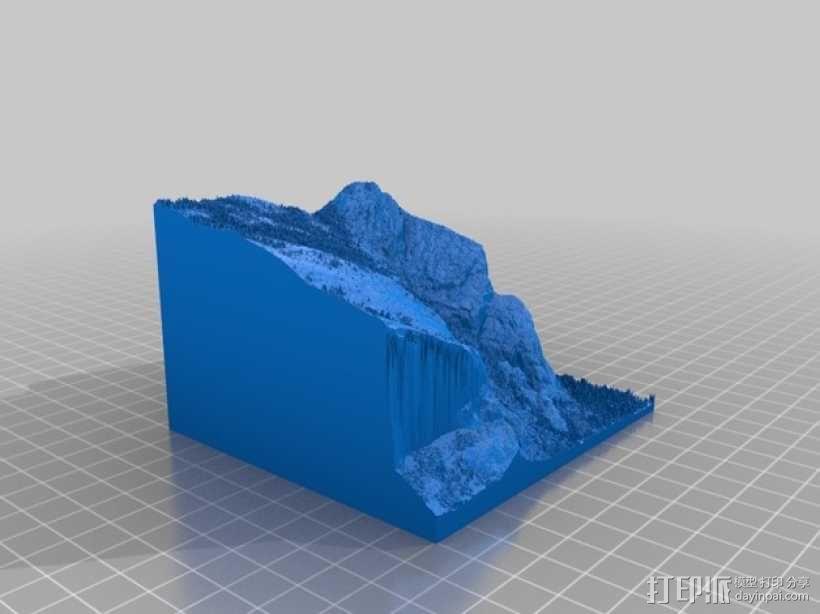 约瑟米蒂国家公园地形模型 3D模型  图7