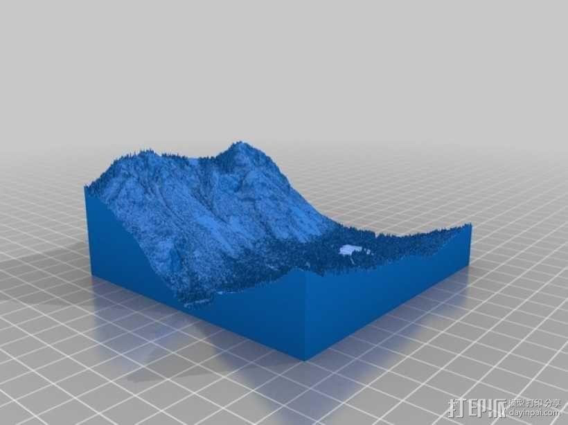 约瑟米蒂国家公园地形模型 3D模型  图9