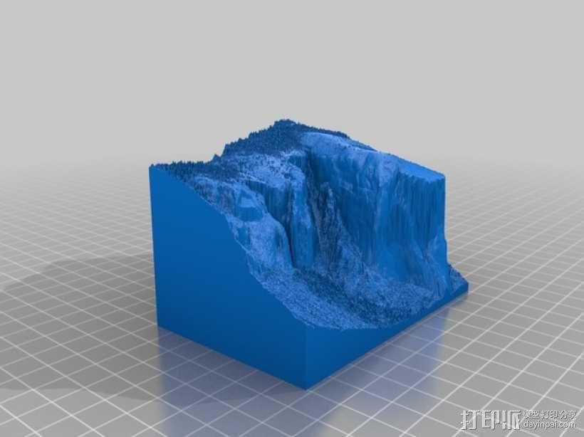 约瑟米蒂国家公园地形模型 3D模型  图12