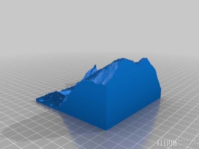 约瑟米蒂国家公园地形模型 3D模型  图13