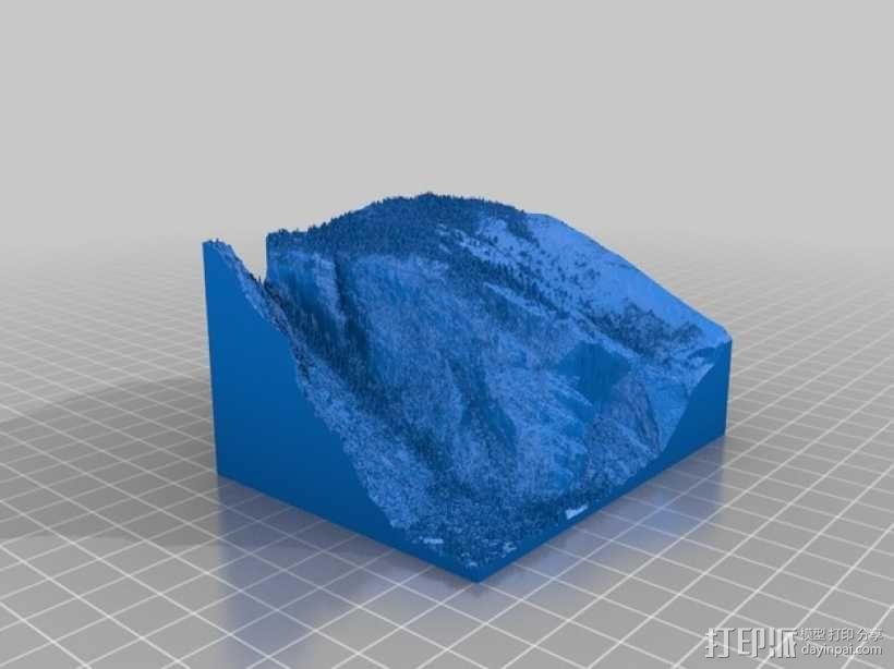 约瑟米蒂国家公园地形模型 3D模型  图14
