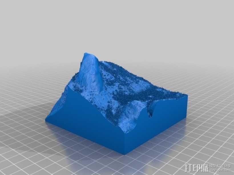 约瑟米蒂国家公园地形模型 3D模型  图15