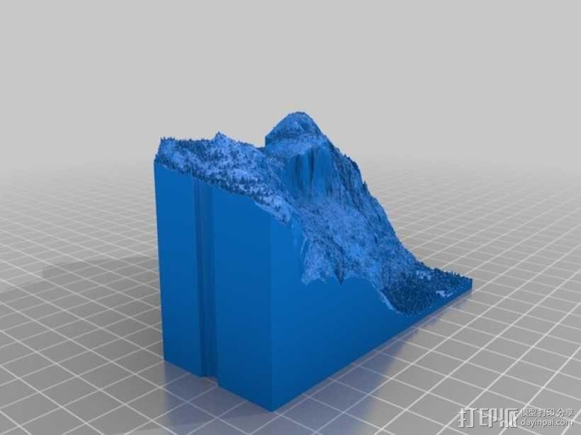 约瑟米蒂国家公园地形模型 3D模型  图17