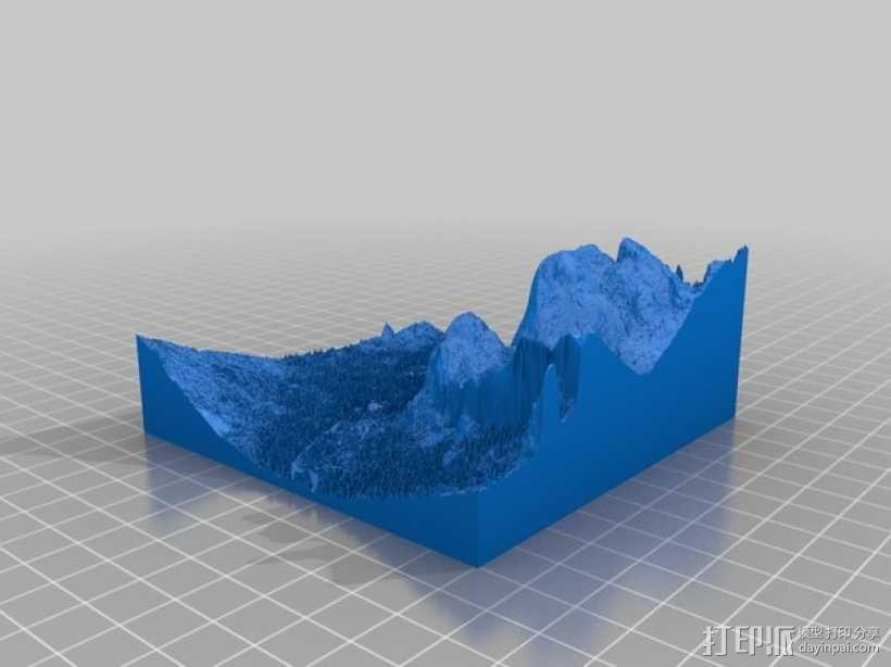 约瑟米蒂国家公园地形模型 3D模型  图19
