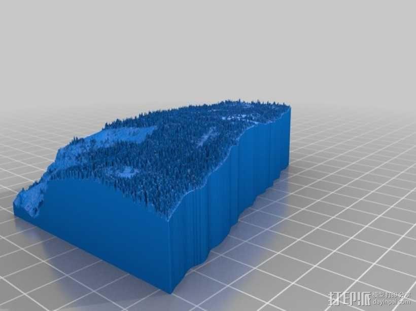约瑟米蒂国家公园地形模型 3D模型  图18