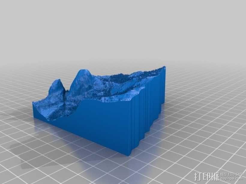 约瑟米蒂国家公园地形模型 3D模型  图20