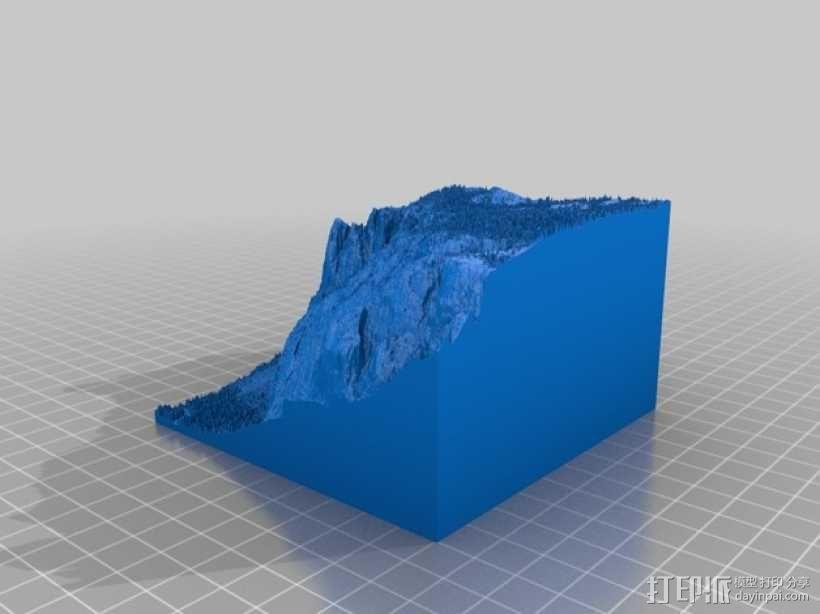 约瑟米蒂国家公园地形模型 3D模型  图23