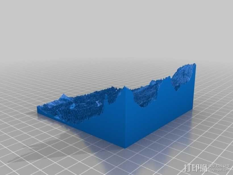 约瑟米蒂国家公园地形模型 3D模型  图24