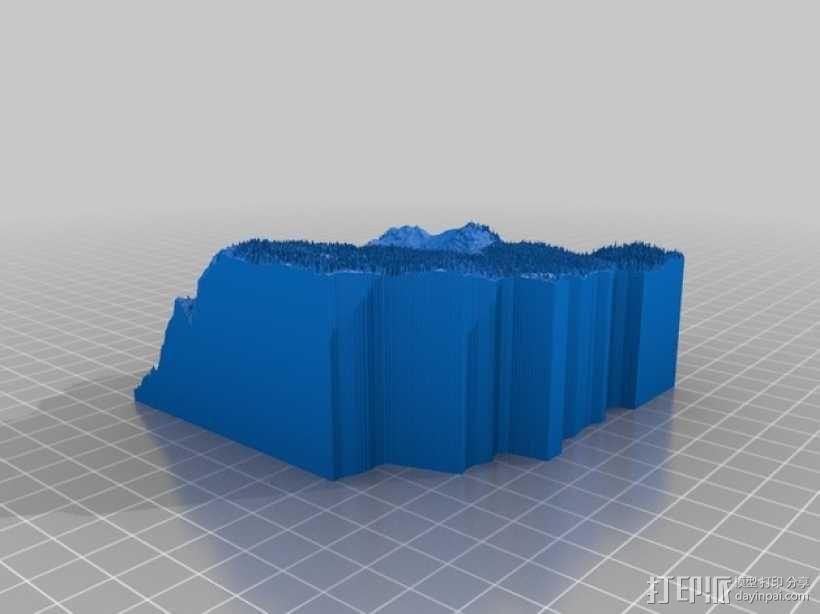 约瑟米蒂国家公园地形模型 3D模型  图26