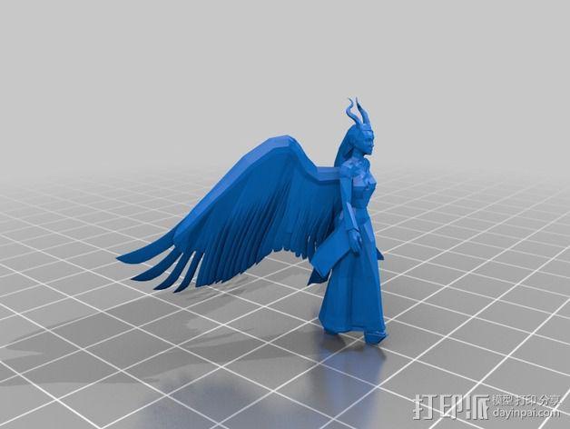 梅尔菲森特 人物模型 3D模型  图2