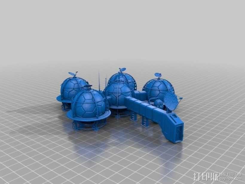 火星基地 3D模型  图1