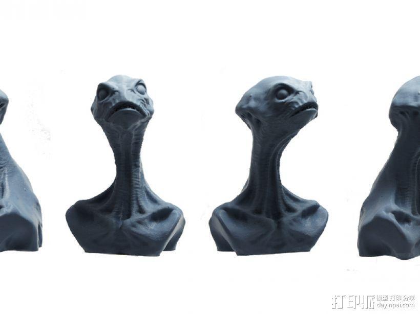 死神蘑菇外星人 3D模型  图1