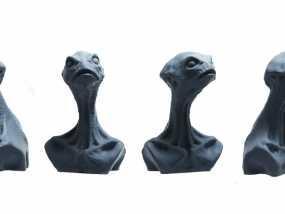 死神蘑菇外星人 3D模型