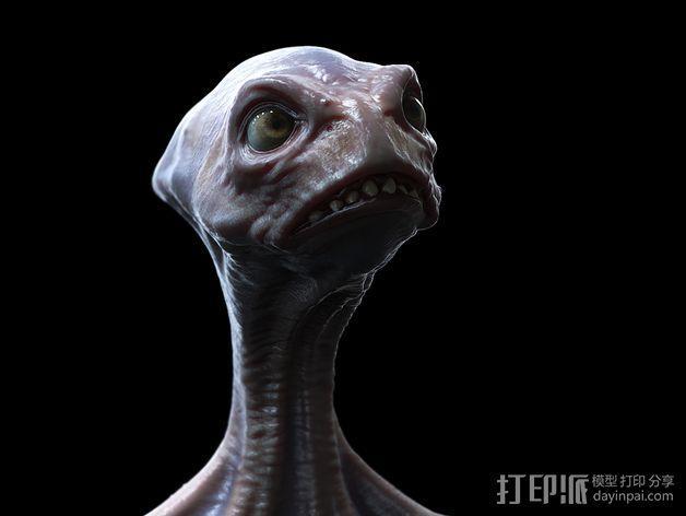 死神蘑菇外星人 3D模型  图3