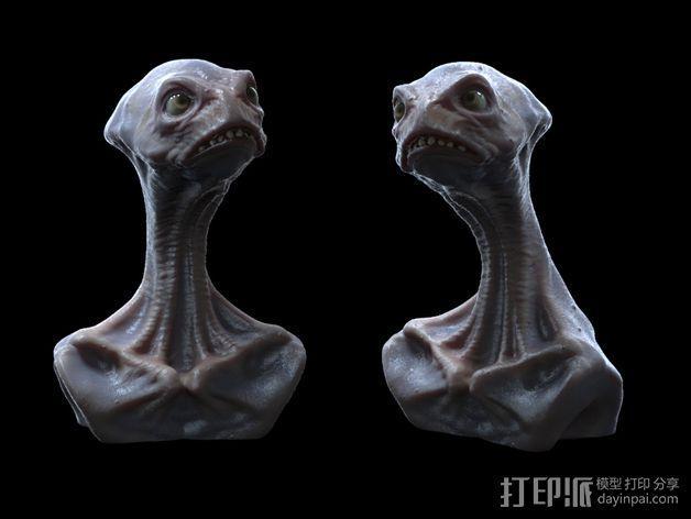 死神蘑菇外星人 3D模型  图4