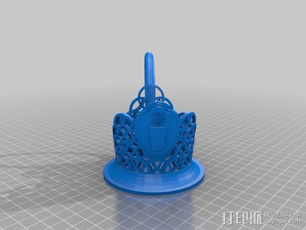 Podstakannik杯架 3D模型  图2