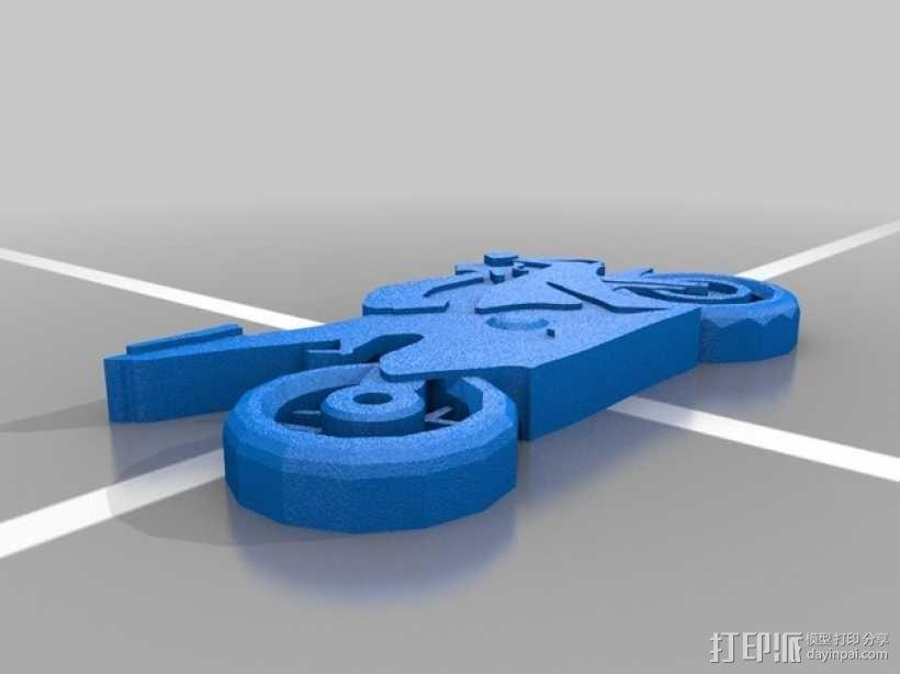 本田CBR1000RR火刃摩托车模型 3D模型  图1
