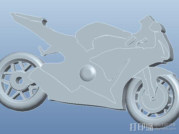 本田CBR1000RR火刃摩托车模型 3D模型  图2