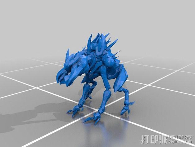 光晕4 普罗米修斯机器人 3D模型  图1
