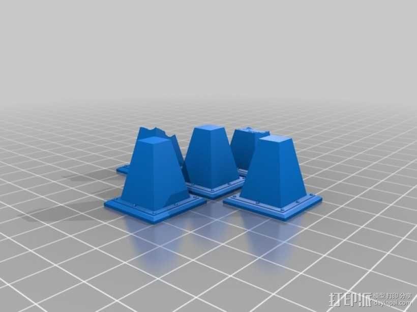 路障和地雷  3D模型  图1