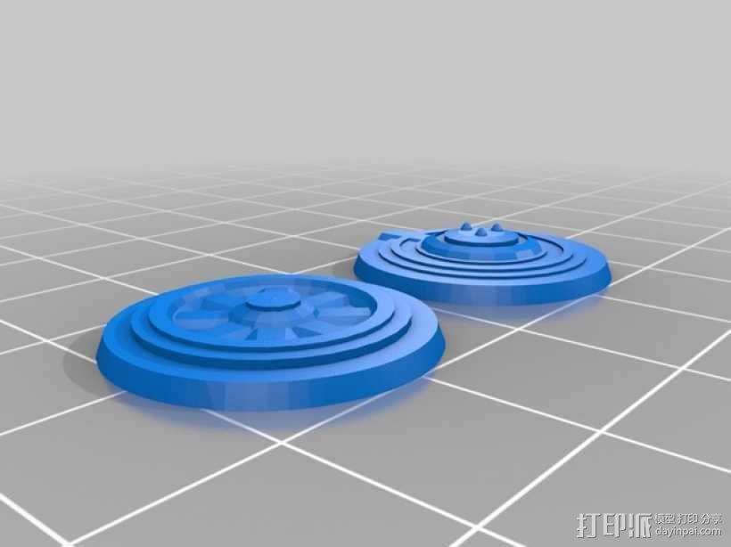 路障和地雷  3D模型  图2