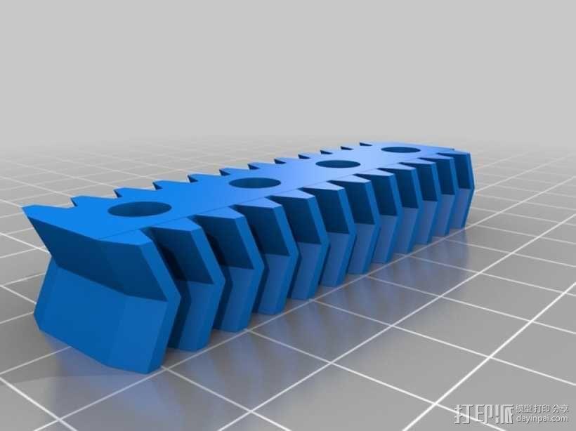 人字齿齿轮  3D模型  图2
