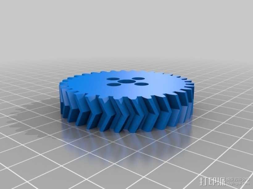 人字齿齿轮  3D模型  图3