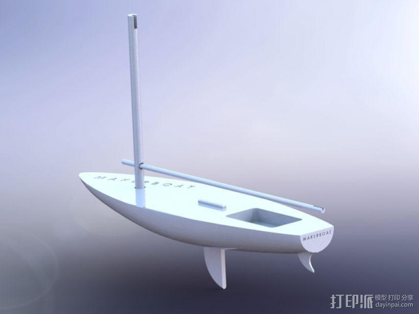 MakerBoat船模型 3D模型  图1