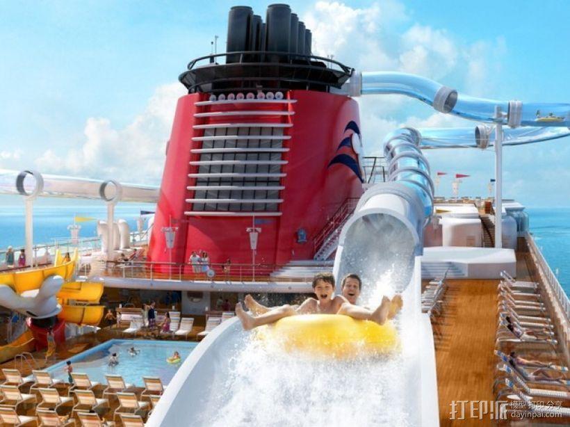 迪斯尼梦想号邮轮 3D模型  图2