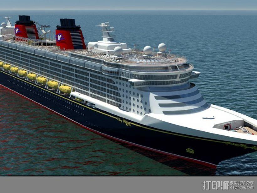 迪斯尼梦想号邮轮 3D模型  图5