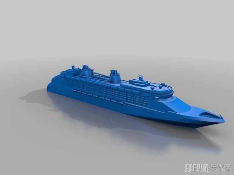 迪斯尼梦想号邮轮 3D模型  图4