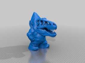 霸王龙小矮人 3D模型