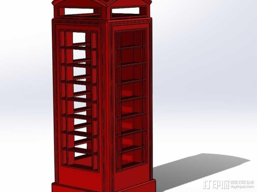 电话亭  3D模型  图1