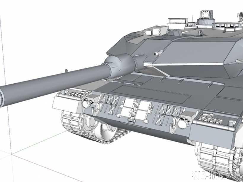 Leopard 2A6 坦克 3D模型  图1