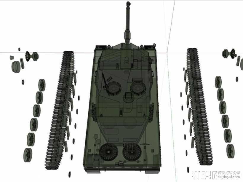 Leopard 2A6 坦克 3D模型  图19