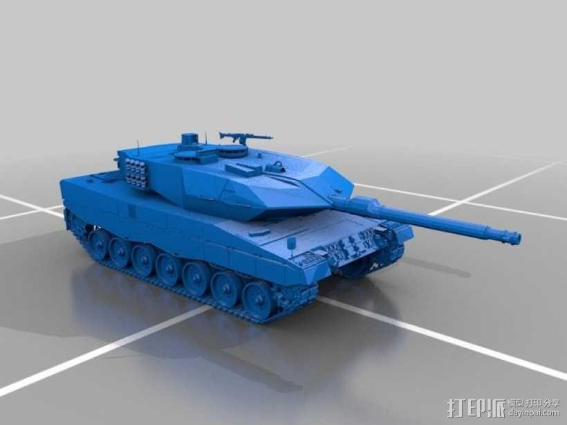 Leopard 2A6 坦克 3D模型  图20